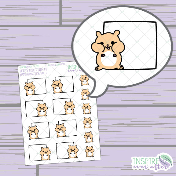 Hamster Box, Vol. 1 ~ Hand Drawn Petite Collection ~ Planner Stickers