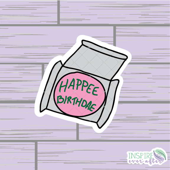Magical Birthday Cake Die Cut ~ Hand Drawn Planner Accessories