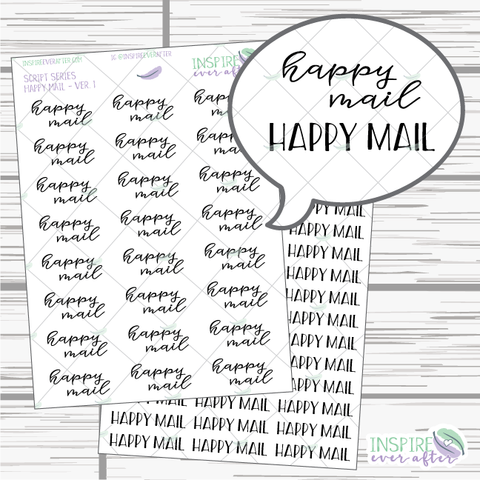 Happy Mail ~ Print OR Script ~ Script Series ~ Planner Stickers