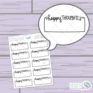 Happy Thoughts Box ~ Hand Drawn Petite Collection ~ Planner Stickers