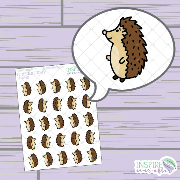 Hedgehogs ~ Hand Drawn Petite Collection ~ Planner Stickers