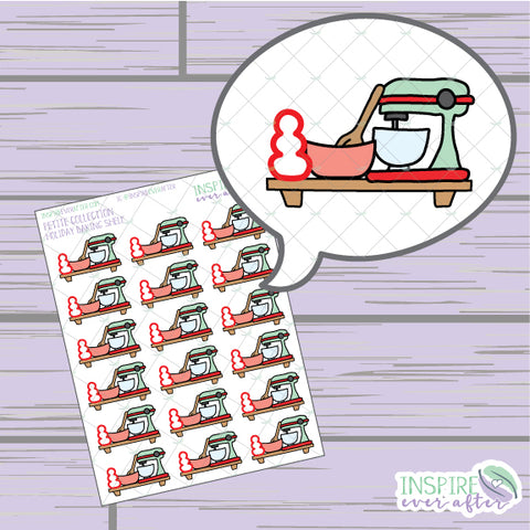Holiday Baking Shelf ~ Hand Drawn Foodie Icons ~ Petite Collection ~ Planner Stickers