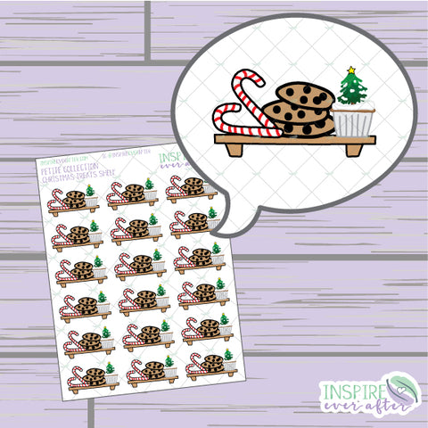 Holiday Treats Shelf ~ Hand Drawn Foodie Icons ~ Petite Collection ~ Planner Stickers