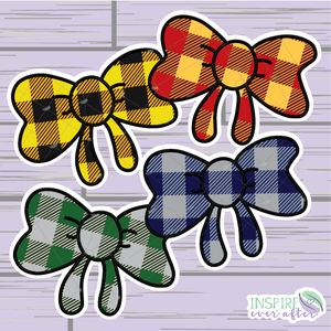 Magical House Bow Die Cut ~ Choose Your House! ~ Hand Drawn ~ Planner Accessories