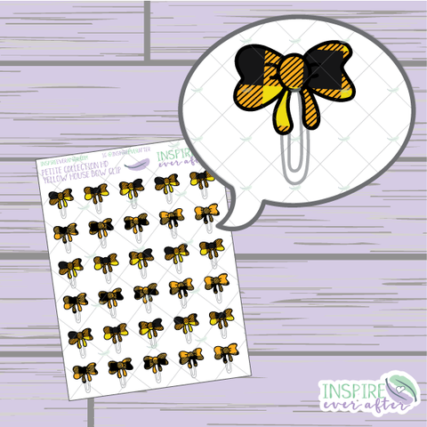 Magical Yellow House Bow Clip ~ Hand Drawn Petite Collection ~ Planner Stickers