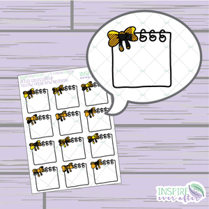 Magical Yellow House Bow Notebook ~ Hand Drawn Petite Collection ~ Planner Stickers
