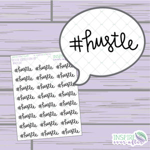 #hustle ~ Hand Drawn Positive Affirmation Petite Collection ~ Planner Stickers