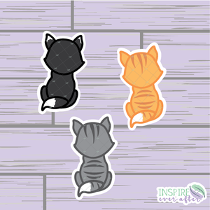 Kitten Die Cut ~ Gray Tabby, Orange Tabby OR Black & White ~ Hand Drawn Planner Accessories