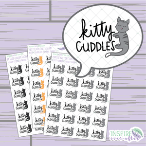 Kitty Cuddles ~ Choose Your Kitty! ~ Hand Drawn Petite Collection ~ Planner Stickers