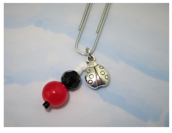 Lovely Ladybug Dangle Clip ~ Inspireology Charms ~ Handmade Planner Accessories