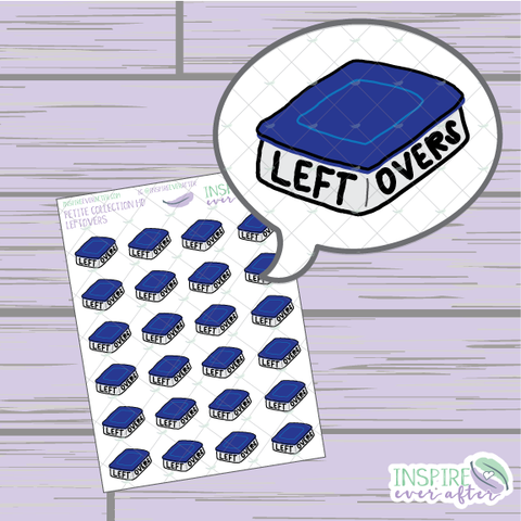 Leftovers Icon ~ Hand Drawn Petite Collection ~ Planner Stickers