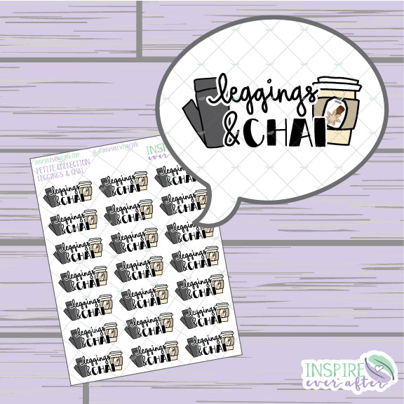 Leggings and Chai ~ Hand Drawn Beverage & Chill Icons ~ Petite Collection ~ Planner Stickers