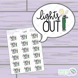 Magical Lights Out ~ Hand Drawn Petite Collection ~ Planner Stickers