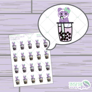 Lila the Panda Boba Life ~ Hand Drawn Petite Collection ~ Planner Stickers