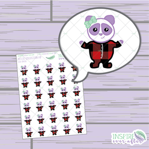 Lila the Panda Onesie ~ Hand Drawn Petite Collection ~ Planner Stickers