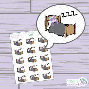 Lila the Panda Sleeping Icon ~ Hand Drawn Petite Collection ~ Planner Stickers