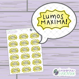 Magical Light Spell ~ Hand Drawn Magical Petite Collection ~ Planner Stickers
