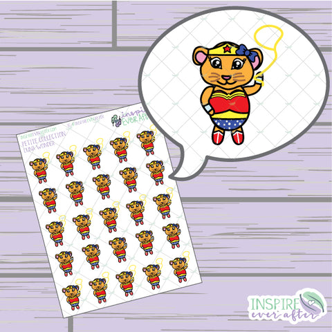 Luna Wonder the Lioness ~ Hand Drawn Superhero Petite Collection ~ Planner Stickers
