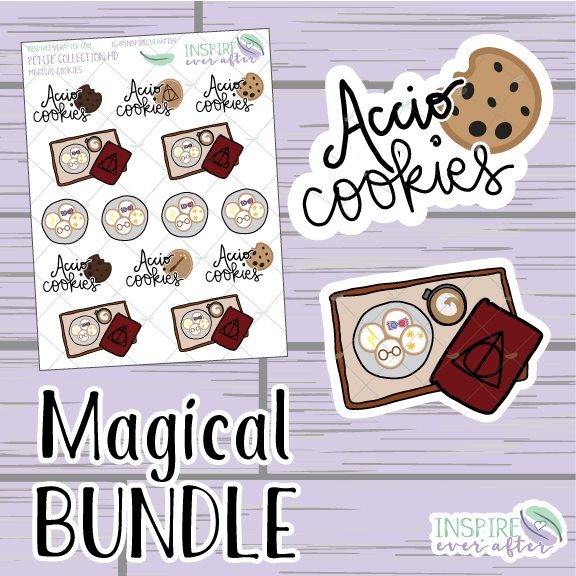 Magical Cookies Bundle ~ Hand Drawn ~ Planner Stickers & Accessories