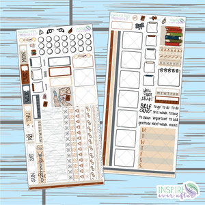 Magically Cozy Hobonichi Weekly Kit ~ Hand Drawn Planner Stickers