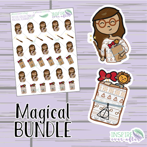 Magical Planner Bundle ~ Hand Drawn Planner Stickers & Accessories