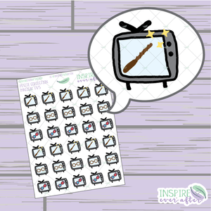 Magical Television ~ Hand Drawn Petite Collection ~ Planner Stickers