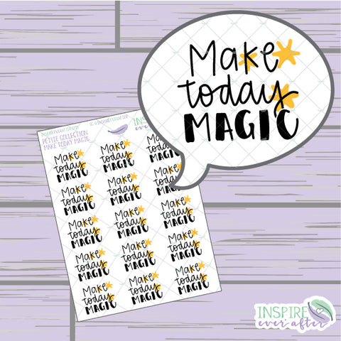 Make Today Magic ~ Hand Drawn Petite Collection ~ Planner Stickers
