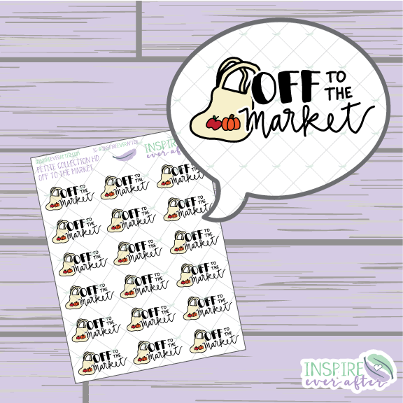 Off to the Market ~ Hand Drawn Petite Collection ~ Planner Stickers
