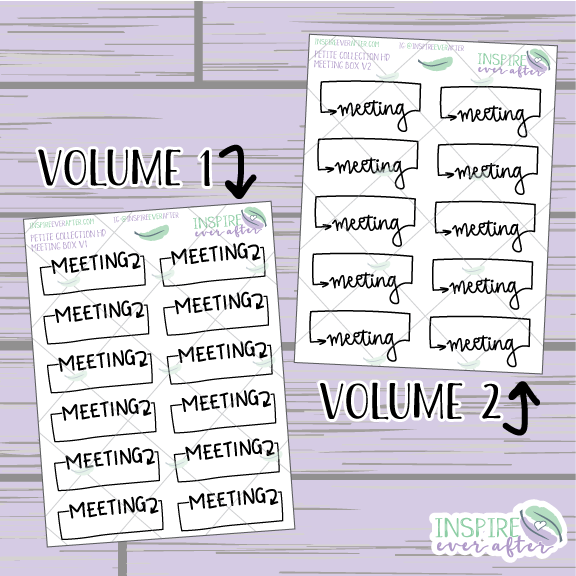 Meeting Boxes ~ Hand Drawn School/Work Icons ~ Petite Collection ~ Planner Stickers