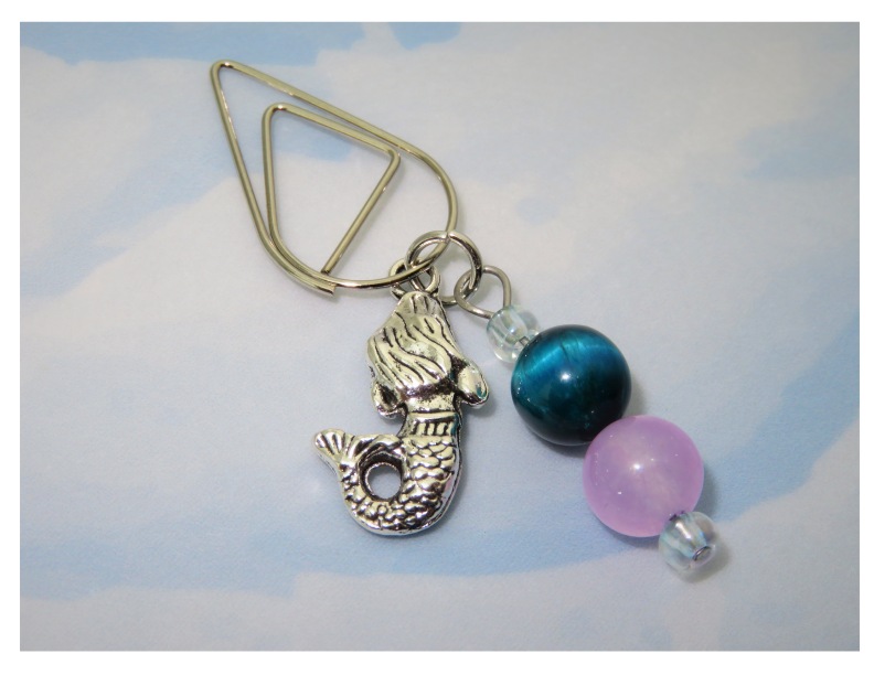 Mermaid Dreams Dangle Clip ~ Inspireology Charms ~ Handmade Planner Accessories