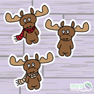 Moose Die Cut ~ Hand Drawn Planner Accessories