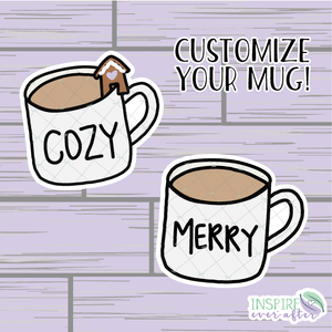 Winter Mug Die Cut ~ Customize Your Mug! ~ Hand Drawn Planner Accessories
