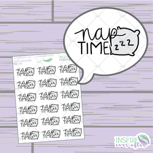 Nap Time ~ Hand Drawn Petite Collection ~ Planner Stickers