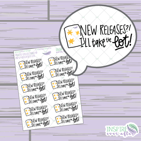 New Releases?! I'll take the Lot! ~ Hand Drawn Petite Collection ~ Planner Stickers