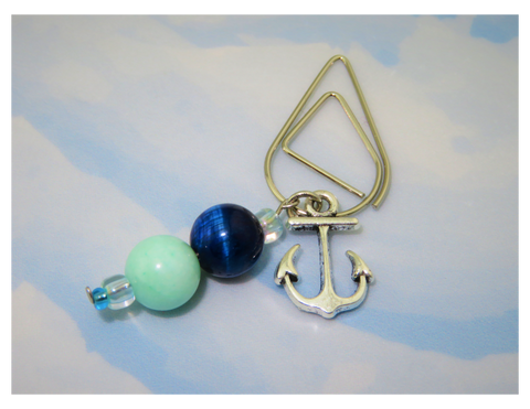 Anchors Away (Ocean) Dangle Clip ~ Inspireology Charms ~ Handmade Planner Accessories