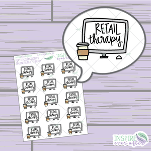 Online Retail Therapy ~ Hand Drawn Petite Collection ~ Planner Stickers
