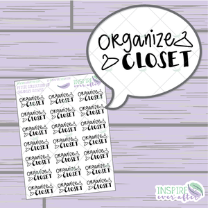 Organize Closet ~ Hand Drawn Cleaning Icon ~ Planner Stickers