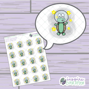 Theo the Turtle Outta Space ~ Hand Drawn Galaxy Icon ~ Petite Collection ~ Planner Stickers