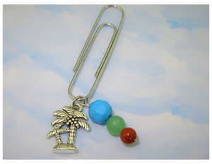Palm Tree Life Dangle Clip ~ Inspireology Charms ~ Handmade Planner Accessories