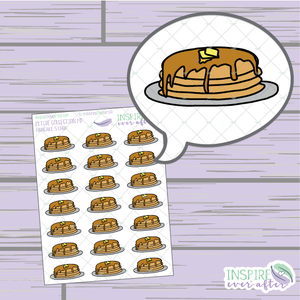 Pancake Stack ~ Hand Drawn Food ~ Petite Collection ~ Planner Stickers