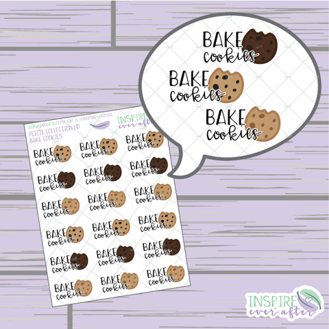 Bake Cookies ~ Hand Drawn Petite Collection ~ Planner Stickers
