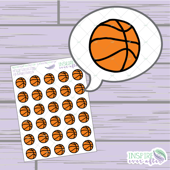 Basketball ~ Hand Drawn Petite Collection Sport Icons ~ Planner Stickers