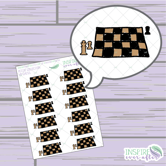Chess ~ Hand Drawn Game Night Icon ~ Petite Collection ~ Planner Stickers