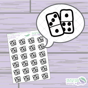 Dominos ~ Hand Drawn Game Night Icons ~ Petite Collection ~ Planner Stickers