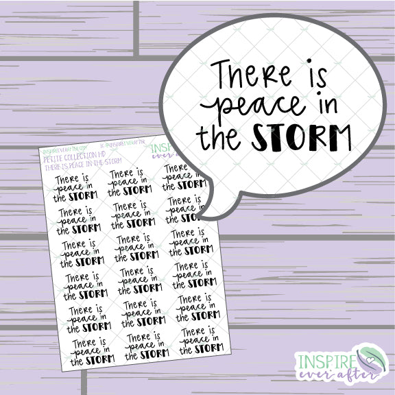 There is Peace in the Storm ~ Hand Drawn Positive Affirmation Petite Collection ~ Planner Stickers