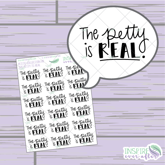 The Petty is REAL. ~ Hand Drawn Petite Collection ~ Planner Stickers
