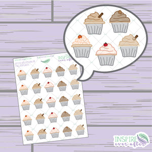 Fall Cupcakes ~ Hand Drawn Petite Collection ~ Planner Stickers