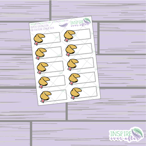 Fortune Cookies and Boxes ~ Hand Drawn Petite Collection ~ Food Icons ~ Planner Stickers
