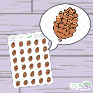 Pinecones ~ Hand Drawn Petite Collection ~ Planner Stickers