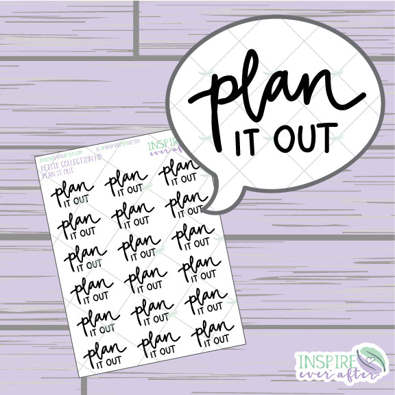 Plan it Out ~ Hand Drawn Petite Collection ~ Planner Stickers